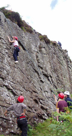 Rock climbing Lake District